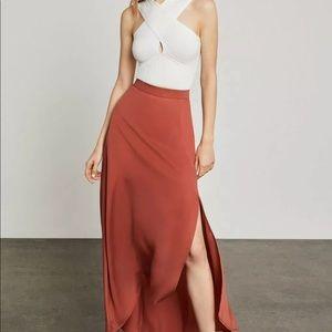 BCBG MaxAzria Jillian Asymmetrical Maxi Skirt NWT